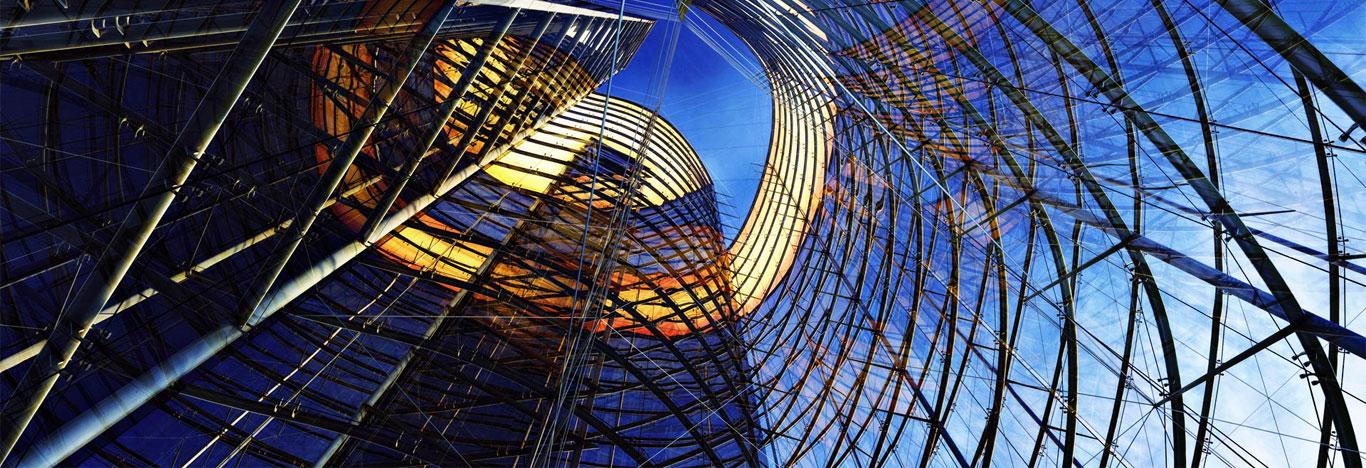 Glass aluminium facade