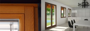 Wood-aluminium profile doors and windows
