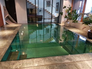 Glass floor